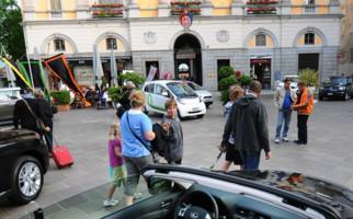 Autonassa in Lugano