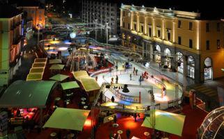 Eislaufen mitten in Locarno