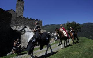Ritter kämpfen auf der Burg