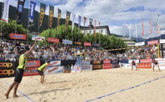 Beach Volley in Locarnos Sand