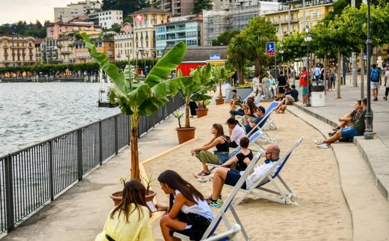 Lugano in bester Sommerlaune