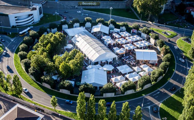 Neue Rotonda: das Festivaldorf