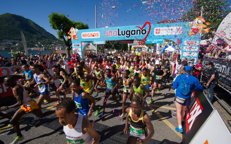 Zwei Tage Running Event in Lugano