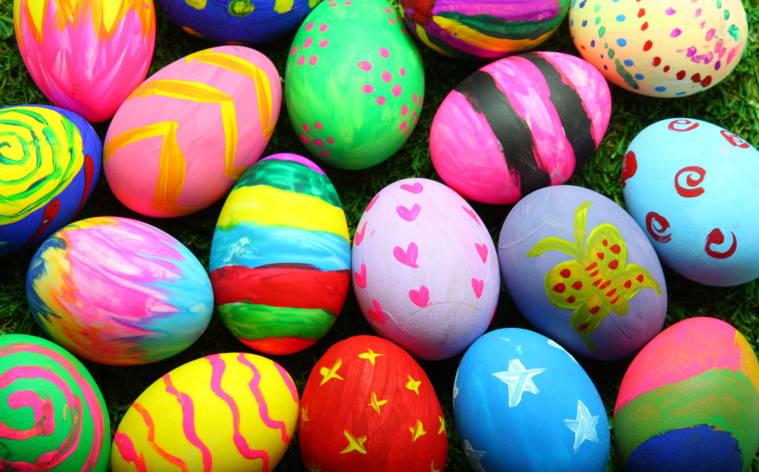 Österliche Jagd nach bunten Eiern